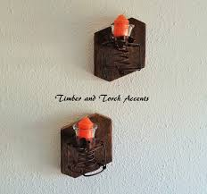 wooden wall sconce wood candle holder primitive country