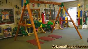 Heartland Swing Set Furniture Inspiring Red Wood Swing Set By Gorilla Playsets Plus