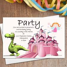 10 personalised dragon u0026 fairy party invitations