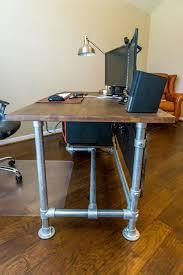 Industrial Computer Desks Wood Paneled Industrial Pipe Desk Deskweek Keekl Garage