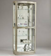 Contemporary Curio Cabinets Pulaski Furniture Curios Platinum Curio Cabinet Darvin Furniture