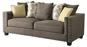 amazon com 501421 kelvington tuxedo sofa with nail head trim dark