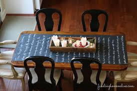 Kitchen Table Runners by Chalkboard Table Runner U2013 The Night Before Christmas Finding