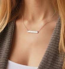 Gold Name Bar Necklace 52 Best Bar Necklaces Images On Pinterest Bar Necklace Layering