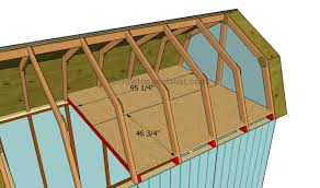 Loft Garage Plans by How To Build A Gambrel Roof Shed Howtospecialist How To Build