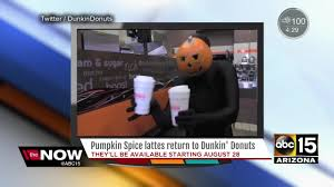 Pumpkin Spice Dunkin Donuts 2017 by Ready For Fall At Dunkin Donuts Youtube
