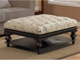 Large Leather Ottoman Furniture Large Ottoman Coffee Table New White Color Large Tufted
