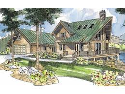 Two Story Log Homes by Eplans Log Houses House Plan Contemporary Log Home 1747 Square