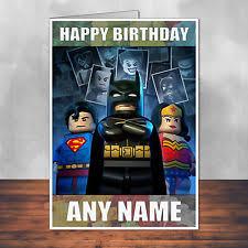 lego batman birthday card ebay