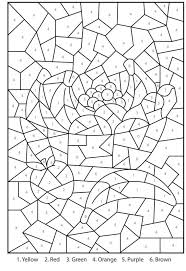 color by number coloring pages educations