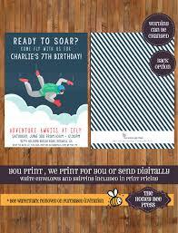 skydiving birthday invitation ifly birthday invitation