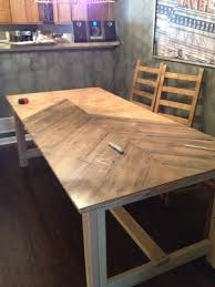chevron wood dining table the urban pig