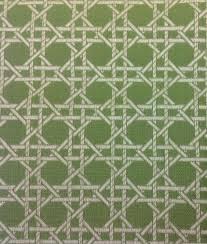 duralee outdoor green artichoke cane trellis lattice upholstery