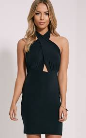 marisa black cross front mini dress lbd lwd lb wd pinterest