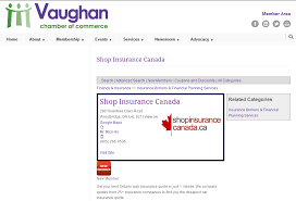 insurance canada announces its membership with the vaughan chamber of commerce