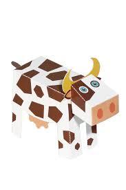 farm animals paper toys diy paper craft kit 3d paper animals