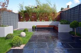 Modern Garden Wall by Gray Fence Paving Modern Dark Grey Fence Topiary Light Grey
