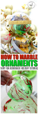 how to marble ornaments diy tutorial momdot