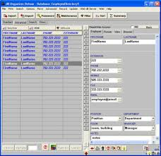 Excel Database Templates Free Simple Employee Phone Directory Software For Windows