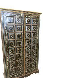 Vintage Armoire Antique Armoire Floral Pained Doors Reclaimed Antique Cabinate