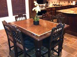 hammered copper dining table copper top dining table promotop info