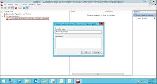 security templates windows server 2012 r2