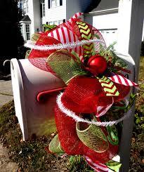 garland deco mesh garland mailbox