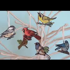 bird letterpress ornaments chandler o leary