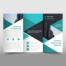 technical brochure template green trifold business brochure template with triangular shapes