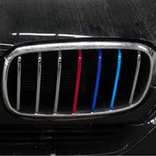 bmw grill 2017 new universal pvc 3pcs three colors car sticker for the grill