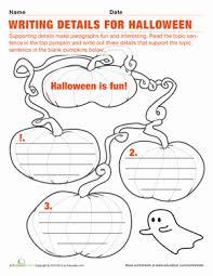 halloween sentences worksheet education com