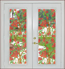 stained glass door film mandalay stained glass film tiffany inspired design with vibrant