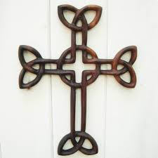 wooden celtic cross cross of daniel wood carving celtic christian cross
