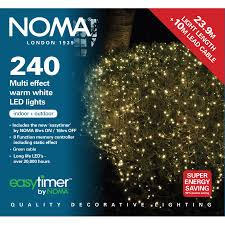 noma 240 warm white multi effect led lights green cable
