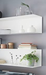 White Floating Wall Shelves by 25 Best Ikea Floating Shelves Ideas On Pinterest Love Pictures