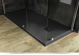 piatto doccia pietra doccia 120x90 effetto pietra antracite stein con griglia acciaio