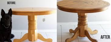 diy farmhouse kitchen table transformation nikki u0027s plate