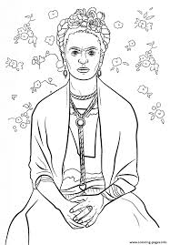 frida kahlo coloring pages printable