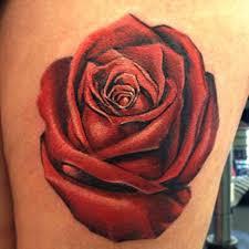 flower rose tattoo by ldf tattoo