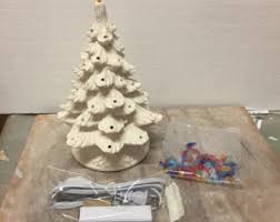 Ceramic Christmas Tree Decorations To Paint by Ready To Paint Etsy