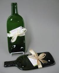 wine bottle plates recycled bottle slumped cheese tray spoon rest by thebottleencore