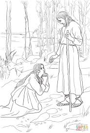mary magdalene meets jesus coloring page free printable coloring