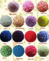 flower balls online cheap 12 inch wedding silk pomander flower
