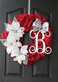 christmas wreath burlap wreath decorating pinterest initials