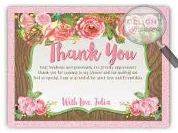 bridal shower thank you notes rustic watercolor floral bridal shower thank you cards di 1539ty