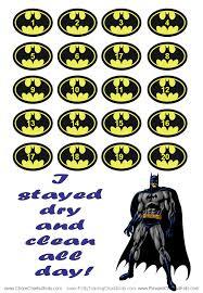 batman potty training chart