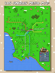 Los Angeles Street Cleaning Map by This Is What A Super Mario Bros Map Of The Los Angeles Metro Looks