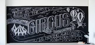 chalk lettering on behance