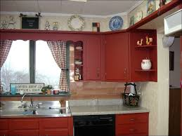 Red And Grey Kitchen Ideas Kitchen Ready To Assemble Kitchen Cabinets Gray Kitchen Paint