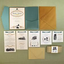 Wedding Pocket Invitations Vintage Jade And Antique Gold Wedding Pocket Invitation Cards